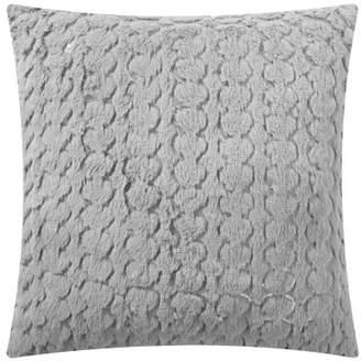 "Mainstays Sequin Scalloped Decorative Throw Pillow, 17"" x 17"", Grey"