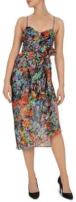 The Kooples Tokyo Night Floral-Print Midi Overlay Dress