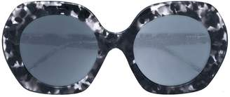 Thom Browne Eyewear oversized round sunglasses