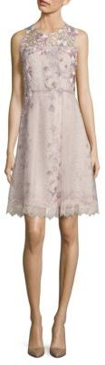 Elie Tahari Ohanna Floral-Print Silk Organza Dress $498 thestylecure.com