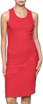 Red Haute Side Stitch Dress