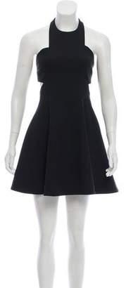 Elizabeth and James Open-Back Halter Dress