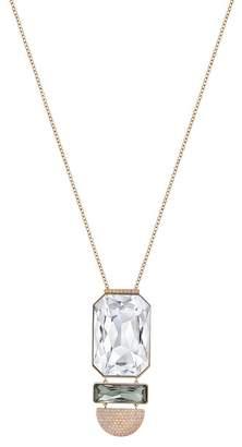 Swarovski Rose Gold PVD Future Crystal Pendant Necklace