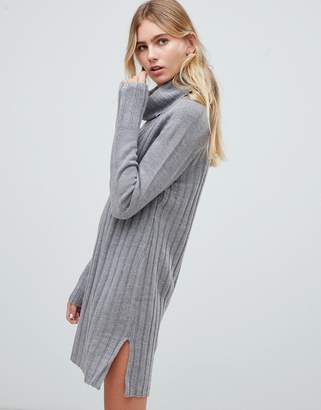 QED London chunky cowl neck sweater dress