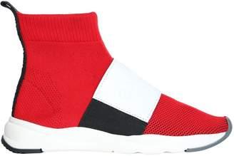 Balmain Cameron 00 High-top Knit Sneakers