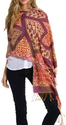 Blend of America Violet Del Mar Cashmere Wrap Shawl