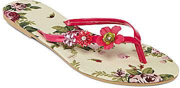 JCPenney Asstd National Brand Mixit Ditsy Floral Flip Flops
