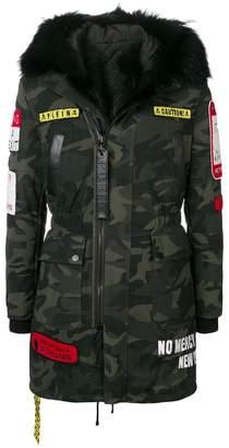 Philipp Plein camouflage patch coat