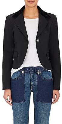 MM6 MAISON MARGIELA Women's Cotton-Blend Crop One-Button Jacket