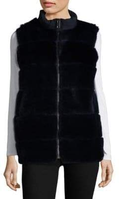 Pologeorgis Dyed Rex Rabbit Fur Puffer Vest