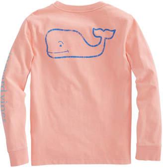 Vineyard Vines Boys Long-Sleeve Two Tone Vintage Whale Pocket T-Shirt