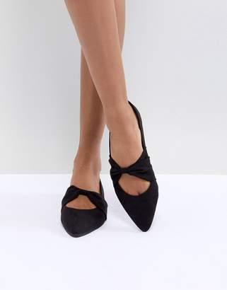 Oasis Bow Center Flat Shoe