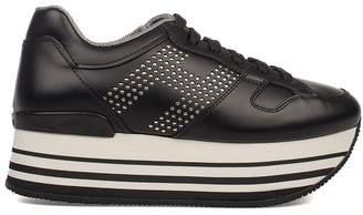 Hogan Blue Interactive Suede Sneakers
