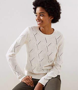 LOFT Abstract Pointelle Sweater
