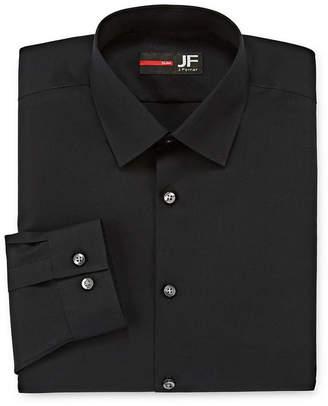 Jf J.Ferrar Easy-Care Solid Long Sleeve Broadcloth Dress Shirt-Big & Tall