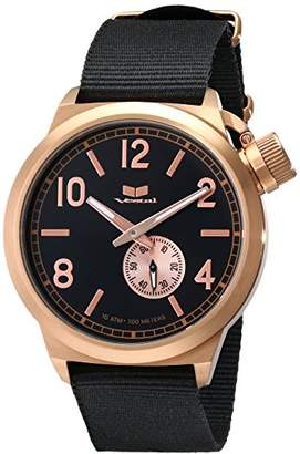 """Vestal Unisex CAN3N06 """"Canteen Zulu"""" Rose Gold Stainless Steel Watch with Black Canvas Band"""