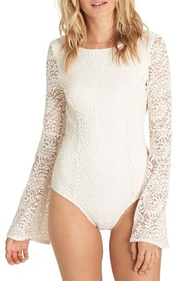 Women's Billabong Eternal Bliss Crochet Lace Bodysuit $79.95 thestylecure.com