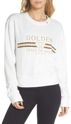 Spiritual Gangster Golden State Crop Sweatshirt