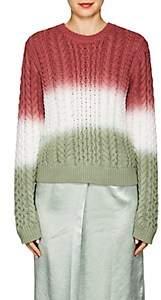 Sies Marjan Women's Britta Dip-Dyed Cotton Sweater-Dusty grn, Dk salmon deg