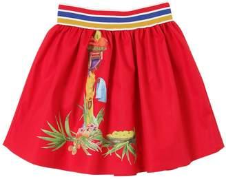 Stella Jean Printed Waxed Cotton Skirt