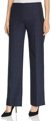 Elie Tahari Odette Plaid Wide-Leg Pants