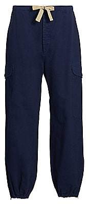 Gucci Men's Space-Dyed Cloth Heavy Herringbone Denim Pants