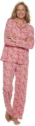 Croft & Barrow Petite Velour Shirt & Pants Pajama Set