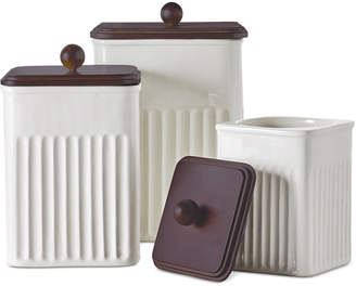 Martha Stewart Collection 3-Pc. Ceramic & Wood Canister Set, Created for Macy's,