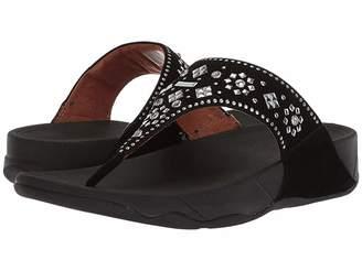 FitFlop Lulu Aztek Stud Toe-Thong Sandals - Suede Women's Sandals