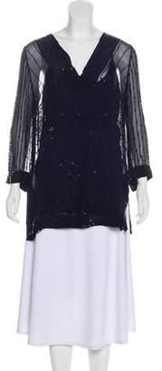 Calypso Sequined Long Sleeve Tunic