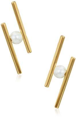 Rebecca Minkoff Core Metal Linear Post Stud Earring