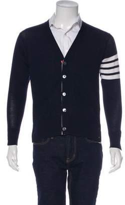 Thom Browne 2017 Wool 4-Bar Striped Cardigan