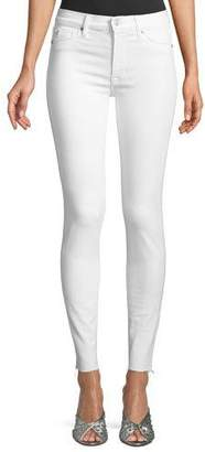 Hudson Barbara High-Waist Super-Skinny Ankle Jeans with Raw Hem
