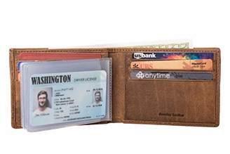Men's Leather Handmade RFID Blocking Bifold Wallet