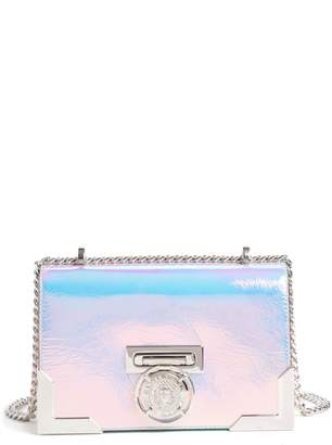 Balmain Baby Box Holographic Leather Shoulder Bag