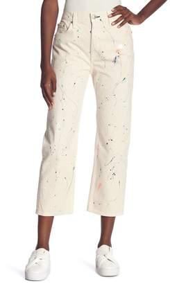 Rag & Bone Paint Splatter Boyfriend Jeans