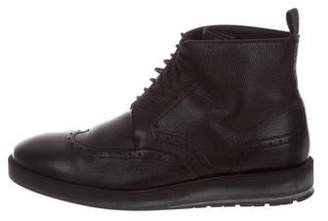 Christian Dior Brogue Leather Ankle Boots