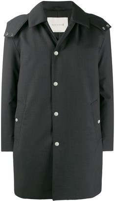 MACKINTOSH DUNOON HOOD Charcoal Storm System Wool THINDOWN Short Hooded Coat GM-1004TD