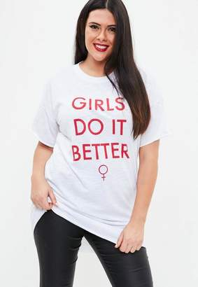 Missguided White Graphic Print T-Shirt