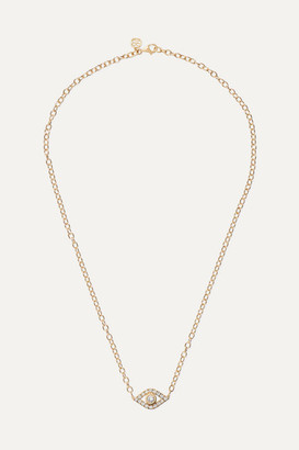 Sydney Evan Extra Large Evil Eye 14-karat Gold Diamond Necklace
