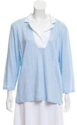 Amina Rubinacci Long Sleeve Linen Top
