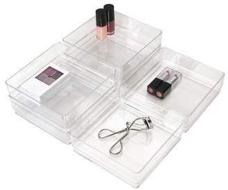"US Acrylic 6""x6""x2"" Stackable Drawer Organizer - 6pk"