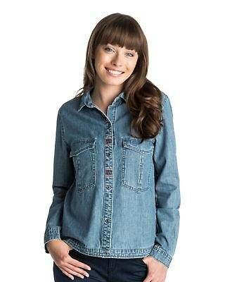 Roxy NEW ROXYTM Womens Fair View Denim Shirt Womens