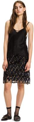 Tommy Hilfiger Sequin Argyle Slip Dress