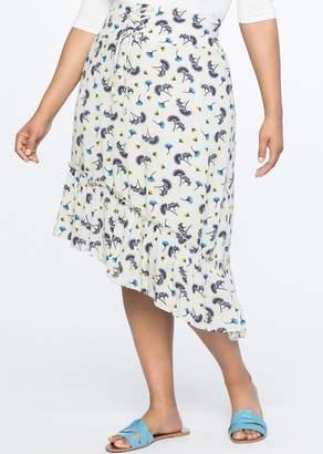 ELOQUII Corset Waist Flounce Skirt (Plus Size)