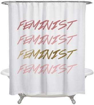 Oliver Gal Feminist Shower Curtain