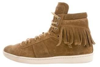 Saint Laurent Suede Kiltie Sneakers
