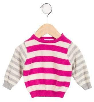 Baby CZ Girls' Striped Cashmere Sweater