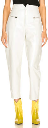 Isabel Marant Cyril Leather Pant in White | FWRD
