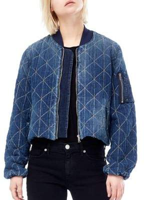 Hudson Gene Puffy Quilted Bomber Jacket